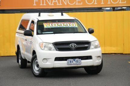 2008 Toyota Hilux GGN15R MY08 SR 4x2 White 5 Speed Manual Cab Chassis Cheltenham Kingston Area Preview