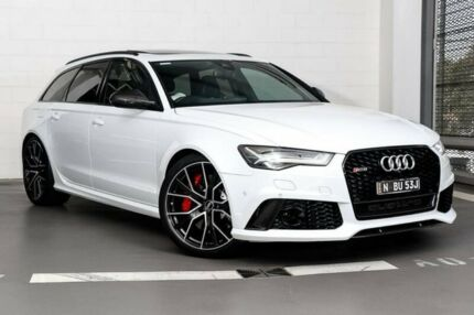 2016 Audi RS6 4G MY17 performance Avant Tiptronic quattro White 8 Speed Sports Automatic Wagon Zetland Inner Sydney Preview