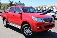 2015 Toyota Hilux KUN26R MY14 SR5 Double Cab Velocity Red 5 Speed Automatic Utility Northbridge Perth City Preview
