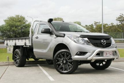 2017 Mazda BT-50 UR0YE1 XT 4x2 Hi-Rider Silver 6 Speed Sports Automatic Cab Chassis Springwood Logan Area Preview