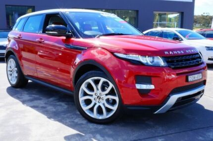 2013 Land Rover Range Rover Evoque L538 MY13 SD4 CommandShift Dynamic Red 6 Speed Sports Automatic