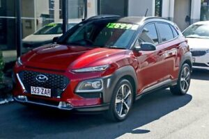 2017 Hyundai Kona OS MY18 Highlander 2WD Pulse Red & Phantom Black Roof 6 Speed Sports Automatic Ormiston Redland Area Preview