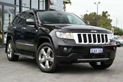 2012 Jeep Grand Cherokee WK MY2012 Overland Black 6 Speed Sports Automatic Wagon Osborne Park Stirling Area Preview