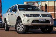 2012 Mitsubishi Triton MN MY12 GL-R Double Cab White 4 Speed Automatic Utility Fremantle Fremantle Area Preview