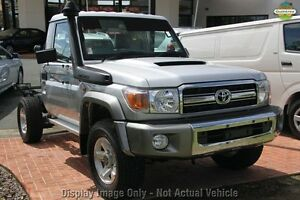 2010 Toyota Landcruiser VDJ79R MY10 GXL Silver 5 Speed Manual Cab Chassis Westminster Stirling Area Preview