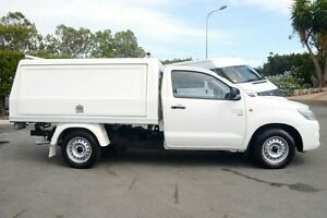 2012 Toyota Hilux KUN16R MY12 SR Glacier White 5 Speed Manual Cab Chassis Acacia Ridge Brisbane South West Preview