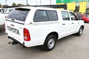 2010 Toyota Hilux TGN16R MY10 Workmate White 5 Speed Manual Utility Heatherton Kingston Area Preview
