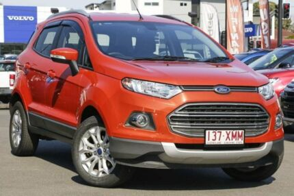 2014 Ford Ecosport BK Titanium PwrShift Orange 6 Speed Sports Automatic Dual Clutch Wagon Hillcrest Logan Area Preview