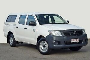 2013 Toyota Hilux TGN16R MY12 Workmate Double Cab 4x2 White 4 Speed Automatic Utility Kedron Brisbane North East Preview
