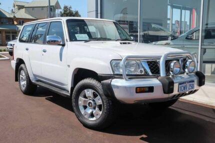 2008 Nissan Patrol GU 6 MY08 ST White 5 Speed Manual Wagon Mindarie Wanneroo Area Preview