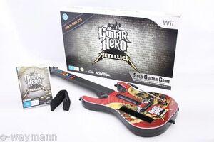 Genuine Guitar Hero Metallica - Complete AUS Game Bundle for Nintendo Wii *BNIP*