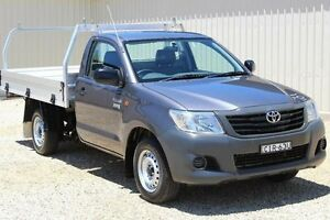 2012 Toyota Hilux TGN16R MY12 Workmate Charcoal Grey 5 Speed Manual Cab Chassis Windradyne Bathurst City Preview