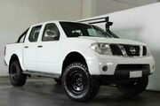2008 Nissan Navara D40 ST-X DUAL CAB White Manual Utility Underwood Logan Area Preview