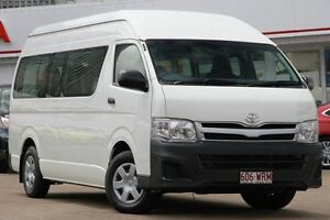 2012 Toyota Hiace KDH223R MY12 Commuter High Roof Super LWB White 4 Speed Automatic Bus Woolloongabba Brisbane South West Preview