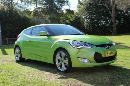 2012 Hyundai Veloster FS Green Apple/black Leather 6 Speed Manual Coupe Port Macquarie Port Macquarie City Preview