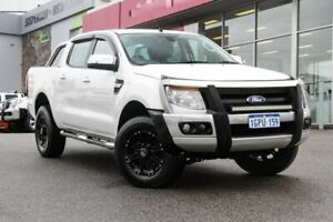 2014 Ford Ranger PX XLT Double Cab White 6 Speed Manual Utility Myaree Melville Area Preview