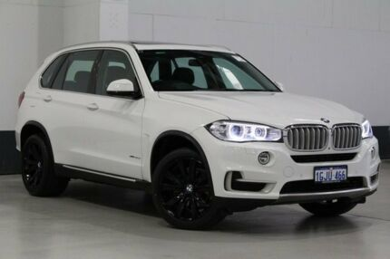 2014 BMW X5 F15 MY14 xDrive 30D Alpine White 8 Speed Automatic Wagon Bentley Canning Area Preview