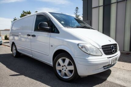 2008 Mercedes-Benz Vito 639 MY08 120CDI Crew Cab Low Roof Extra Long White 5 Speed Automatic Van