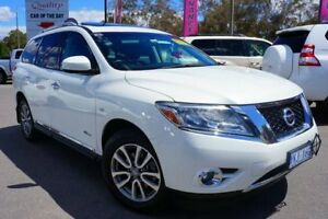 2014 Nissan Pathfinder R52 MY14 ST-L X-tronic 4WD Alpine White 1 Speed Constant Variable Wagon