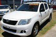 2013 Toyota Hilux TGN16R MY12 Workmate Double Cab 4x2 White 4 Speed Automatic Utility Cleveland Redland Area Preview