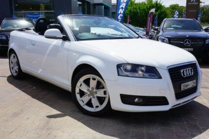 2009 Audi A3 8P MY10 TFSI S tronic Ambition White 6 Speed Sports Automatic Dual Clutch Convertible Pearce Woden Valley Preview