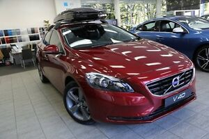 2015 Volvo V40 M Series MY16 D4 Adap Geartronic Luxury Flamenco Red 8 Speed Sports Automatic Lindfield Ku-ring-gai Area Preview