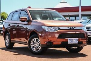 2012 Mitsubishi Outlander ZJ MY13 ES 4WD Brown 6 Speed Constant Variable Wagon East Rockingham Rockingham Area Preview