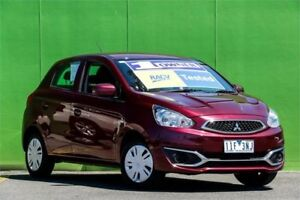 2016 Mitsubishi Mirage LA MY15 ES Red 1 Speed Constant Variable Hatchback Ringwood East Maroondah Area Preview