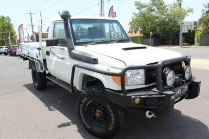 2010 Toyota Landcruiser White Manual Cab Chassis Heidelberg Heights Banyule Area Preview