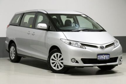 2014 Toyota Tarago ACR50R MY13 GLi Silver 7 Speed CVT Auto Sequential Wagon Bentley Canning Area Preview