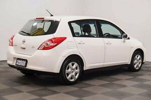 2012 Nissan Tiida C11 S4 ST White 4 Speed Automatic Hatchback Thornlie Gosnells Area Preview