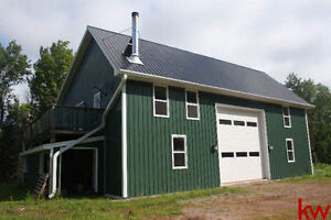 NEW PRICE! Large Workshop w/ Living Quarters on the Upper Level!