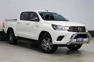 2015 Toyota Hilux GUN136R SR HI-Rider White 6 Speed Manual Dual Cab Utility Bentley Canning Area Preview