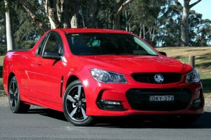 2016 Holden Ute VF II MY16 SV6 Ute Black Red Hot 6 Speed Manual Utility West Gosford Gosford Area Preview