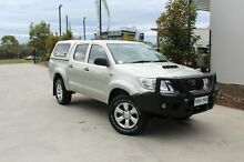 2012 Toyota Hilux KUN26R MY12 SR Double Cab Silver 4 Speed Automatic Utility Robina Gold Coast South Preview