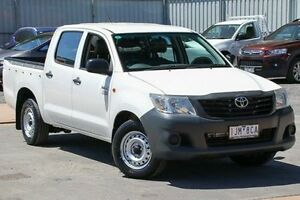 2012 Toyota Hilux TGN16R MY12 Workmate Double Cab White 4 Speed Automatic Utility Ferntree Gully Knox Area Preview
