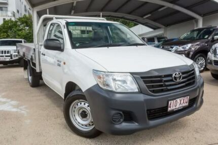2014 Toyota Hilux TGN16R MY14 Workmate White 4 Speed Automatic Cab Chassis