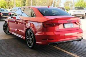 2015 Audi S3 8V MY15 S tronic quattro Red 6 Speed Sports Automatic Dual Clutch Sedan