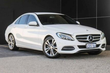 2015 Mercedes-Benz C200 W205 7G-Tronic + White 7 Speed Sports Automatic Sedan