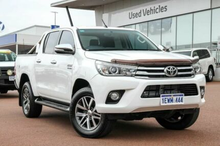 2015 Toyota Hilux GUN126R SR5 Double Cab White 6 Speed Sports Automatic Utility Wangara Wanneroo Area Preview