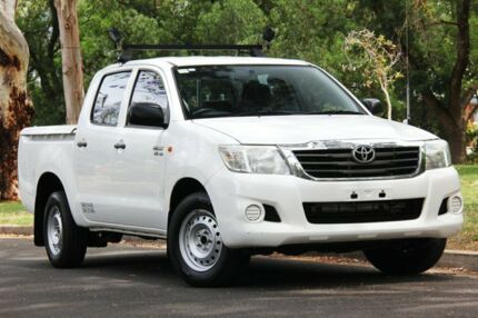 2012 Toyota Hilux GGN15R MY12 SR Double Cab 4x2 White 5 Speed Automatic Utility Hawthorn Mitcham Area Preview
