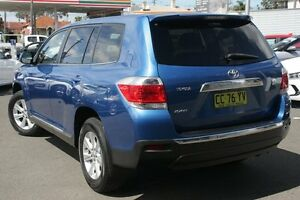 2011 Toyota Kluger GSU40R MY11 Upgrade KX-R (FWD) 5 Seat Blue 5 Speed Automatic Wagon Wolli Creek Rockdale Area Preview