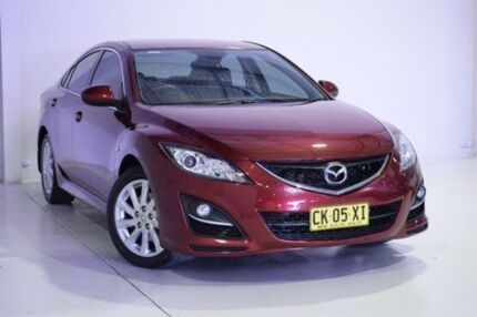 2012 Mazda 6 GH1052 MY12 Touring Red 5 Speed Sports Automatic Sedan Wadalba Wyong Area Preview
