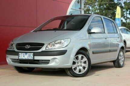 2010 Hyundai Getz TB MY09 S Silver 4 Speed Automatic Hatchback