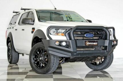 2015 Ford Ranger PX MkII XL 2.2 HI-Rider (4x2) White 6 Speed Automatic Crew Cab Pickup Burleigh Heads Gold Coast South Preview