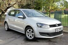 2012 Volkswagen Polo 6R MY12.5 77TSI DSG Comfortline Silver 7 Speed Sports Automatic Dual Clutch Hat Eastwood Burnside Area Preview