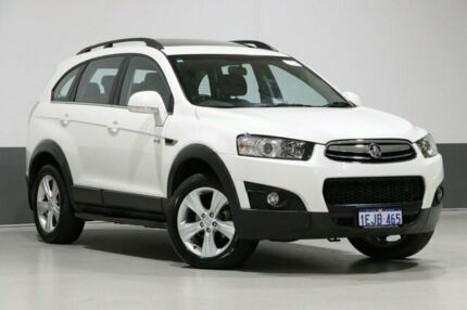 2013 Holden Captiva CG MY13 7 CX (4x4) White 6 Speed Automatic Wagon Bentley Canning Area Preview