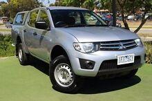 2011 Mitsubishi Triton MN MY11 GLX Double Cab Silver 4 Speed Automatic Utility Berwick Casey Area Preview