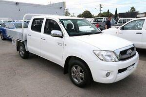 2011 Toyota Hilux GGN15R MY10 SR5 White 5 Speed Automatic Utility Heatherton Kingston Area Preview
