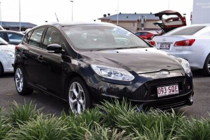 2012 Ford Focus LW MKII ST Black 6 Speed Manual Hatchback Hillcrest Logan Area Preview